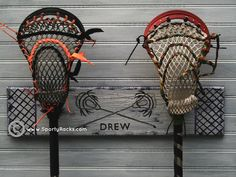 lacrosse bedroom decor | lacrosse decor. stick holder | For the boy child