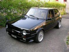 Fiat Ritmo Series I looking hot in black Maserati, Lamborghini, Ferrari, Fiat Abarth, Italian Posters, Steyr, Italian Beauty, Dream Machine, Rally Car