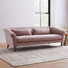 Teen Furniture, Sofa Furniture, Furniture Ideas, Modern Furniture, Apartment Sofa, Apartment Therapy, Apartment Ideas, Oversized Furniture, Pink Sofa