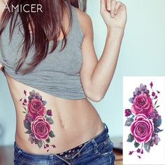 27 designs Waterproof Temporary Tattoo Sticker China ink flower rose peony tatto stickers flash tatoo fake tattoos for women Fake Tattoos, Trendy Tattoos, Flower Tattoos, Body Art Tattoos, Sleeve Tattoos, Tattoos For Women, Classy Tattoos, Henna Tattoos, Tribal Tattoos