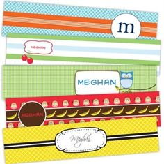 Our personalized Prepster Bookmarks are the perfect placeholder for any child with their variety of brightly colored, prepster designs. Printed on state-of-the-art digital printing systems using the highest quality materials to create a gift that will last. Encourage a love of reading with a set of 5 custom designed bookmarks, personalized with your child's name! Measures 1.75 x 8.5 inches.
