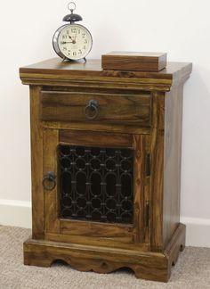 Mercers Furniture Indian Jali Bedside Cabinet/Side Table in Home, Furniture…