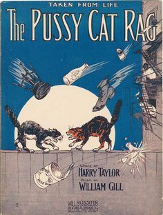 Sheet Music Cover Art, 1912