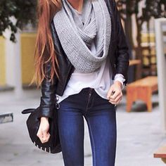 Big scarves are a great fall accessory, both stylish and practical to keep you warm on those chilly New England nights
