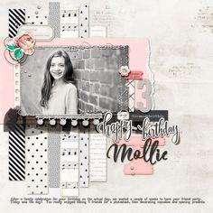 Scrapbook Page Colors: Black + White w/ Pastels | Kelly Prang | Get It Scrapped #Designingascrapbook