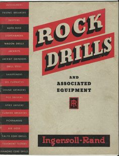 Old Catalog Rock Drills Jackhammers Pile Drivers Drills Equipment Ingersoll Rand