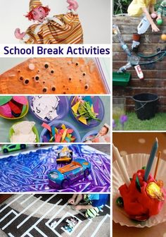 Ideas of activities to keep the kids active when school is out.
