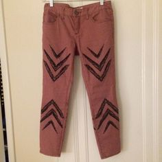 Free People Ankle Skinny in Dusty Rose Only worn twice! I love these; they just don't fit me quite right. Free People Pants Skinny