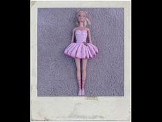 Crochet - Barbie's Ballerina Tutu & Slippers - YouTube