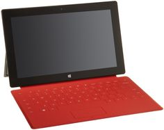 Red Touch Cover for Microsoft Surface Microsoft Surface, Windows Rt, Surface Rt, Touch Tablet, Cool Tech Gadgets, Unlocked Phones, Laptop Computers, Computer Accessories, Usb Flash Drive