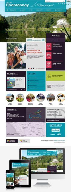 Création du site Internet de la ville de Chantonnay (85) : #Web #Webdesign #Responsive #Mairie #Ville #Public : www.chantonnay.fr by @creasit