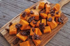 Roast Pumpkin with Voodoo Bacon Praline and Rosemary Oil