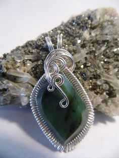 Jade Wire Wrapped Pendant by superioragates on Etsy, $45.00
