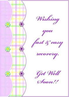Free Printable Get Well Soon Greeting Card  Cards  Pinterest