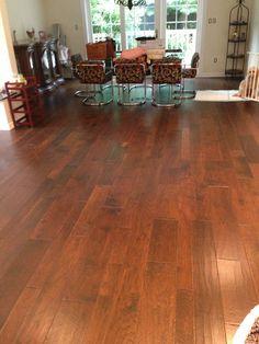 Beautiful random width Maple Floor