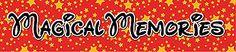 "Reminisce MAGICAL MEMORIES 2"" x 10"" Title Sticker scrapbooking TRAVEL VACATION"
