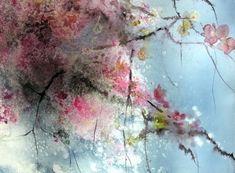 Printemps japonais (Peinture) par Reine-Marie PiNCHON
