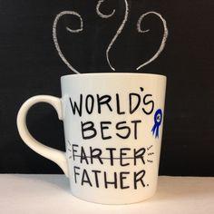 World's Best Farter Father Hand Painted 16 Oz Mug/Guy/Boyfriend Gift idea by Morning Blues Shop, $16.50 USD