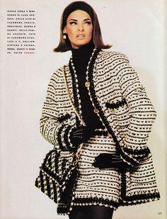 #vintage #Chanel >> Vogue Italia, June 1990.  Photographer: Steven Meisel | Model: Linda Evangelista