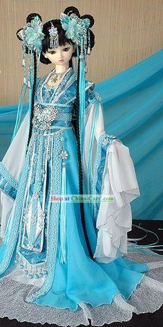 Ancient Chinese Blue Princess