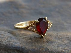 Vintage Garnet Ring Avon