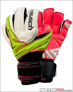 Reusch Argos Deluxe G2 Goalkeeper Gloves - Lime Punch with Pink...$121.49