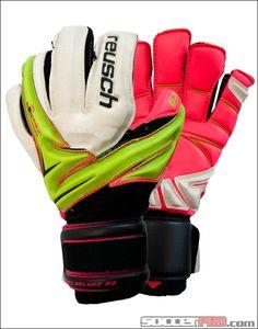 Reusch Argos Deluxe G2 Goalkeeper Gloves - Lime Punch with Pink...$121.49
