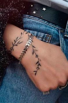 Cool - Wrist Tattoo for Women Bracelet - 90 Simple Wrist Tattoo Designs for Girls . - Wrist tattoo for women bracelet – 90 simple wrist tattoo designs for girls – – - Simple Wrist Tattoos, Hand Tattoos For Women, Subtle Tattoos, Wrist Tattoos For Women, Girl Wrist Tattoos, Simple Unique Tattoos, Tattoo Forearm, Feminine Tattoos, Arm Tattoos Vines