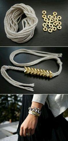 Washer Bracelet, love