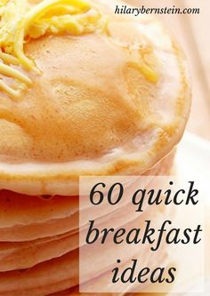 I need quick breakfast ideas most mornings ... these recipes sound so good!