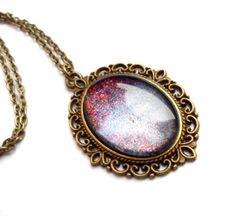Moon rise Pendant Necklace Glass Dome Necklace by GalaxyIllusion, £18.00