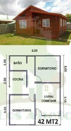 Bamboo House Design, Bungalow House Design, Tiny House Design, Simple House Plans, Barn House Plans, Tiny House Plans, Bungalow Floor Plans, House Floor Plans, Garage Plans With Loft
