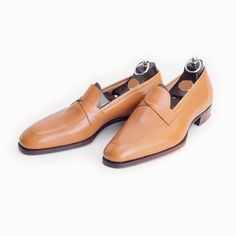 New Handmade Latest Style Tan Real Leather Shoes, Men leather Shoes - Dress/Formal