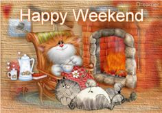 Happy Weekend funny animated friend weekend friday gif sunday saturday greeting