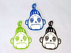 Shrunken Head Roller Derby Helmet Vinyl Sticker / Vinyl Decal voodoo on Etsy, $4.00