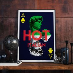 Italy Poster Fashion Art Italy Print Playing by BitterMoonStudio