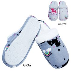 @Overstock - These cozy slippers from Leisureland features cotton construction in a fun unicorn print. Plush lining and non-skid soles complete these fun slippers.http://www.overstock.com/Clothing-Shoes/Leisureland-Womens-Cotton-Unicorn-Slippers/5530131/product.html?CID=214117 $19.49