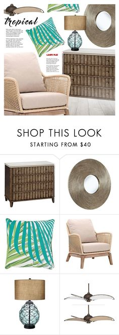 """""""Tropical Style-Contest"""" by pokadoll ❤ liked on Polyvore featuring interior, interiors, interior design, home, home decor, interior decorating, Surya and Tiffany & Co."""