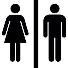Siluetas femeninas y masculinas con una línea vertical en el ...