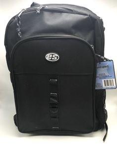 Backpack Black Heavy Duty Lots of Pockets and Adjustable East Sport New