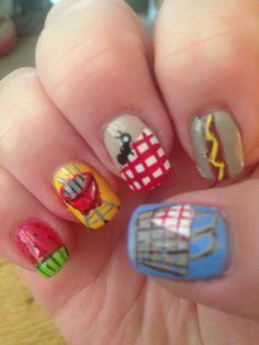 Picnic BBQ nail art