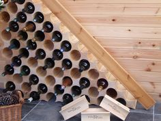 wine rack under stairs | See us Now on http://www.flickr.com/photos/x-rax/