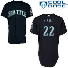 Robinson Cano # 22 Seattle mariners Navy Blue Cool Base Stitched MLB Jersey