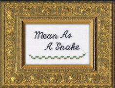 Instantly-Delivered PDFs | Subversive Cross Stitch | Mean As A Snake