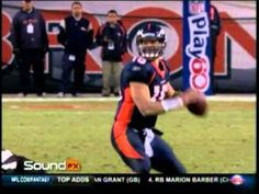 Tebow mic'd up for sound during game.  He walks like he talks.