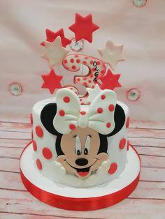 Mini Mouse Birthday Cake, Mickey Birthday Cakes, Mini Mouse Cake, Mickey And Minnie Cake, Bolo Mickey, Mickey Cakes, Birthday Cake Girls, Mickey Mouse Decorations, Easter Cupcakes