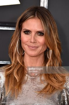 Model-TV personality Heidi Klum attends The 59th GRAMMY Awards at STAPLES Center on February 12, 2017 in Los Angeles, California.