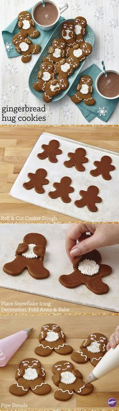 This team of gingerbread treats is happily showing their winter spirit with…