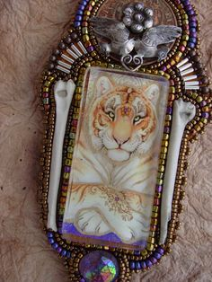 The Tiger Necklace by HeidiKummliDesigns on Etsy