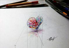 Crystal heart 3D by EvgenyS.deviantart.com on @DeviantArt